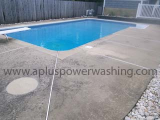 Pool Concrete Power Washing In Lincroft Nj 07738 A