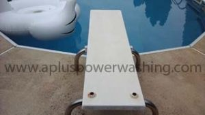 power washed diving board