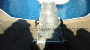 power washed diving board (dirty)