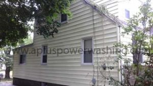 side of house siding cleaning (after)