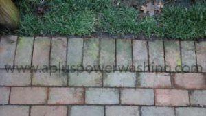 dirty brick pavers
