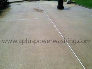 power washed concrete side-walk