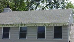after house shingle roof cleaning