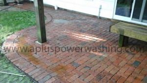 before brick patio cleaning