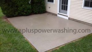 after concrete patio cleaning