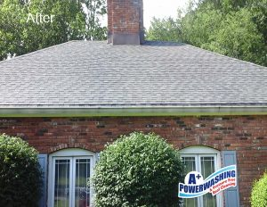 Power Washing Roof After