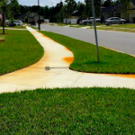 Removing Rust Stains from Sidewalks