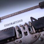 Typewriter with a written message;